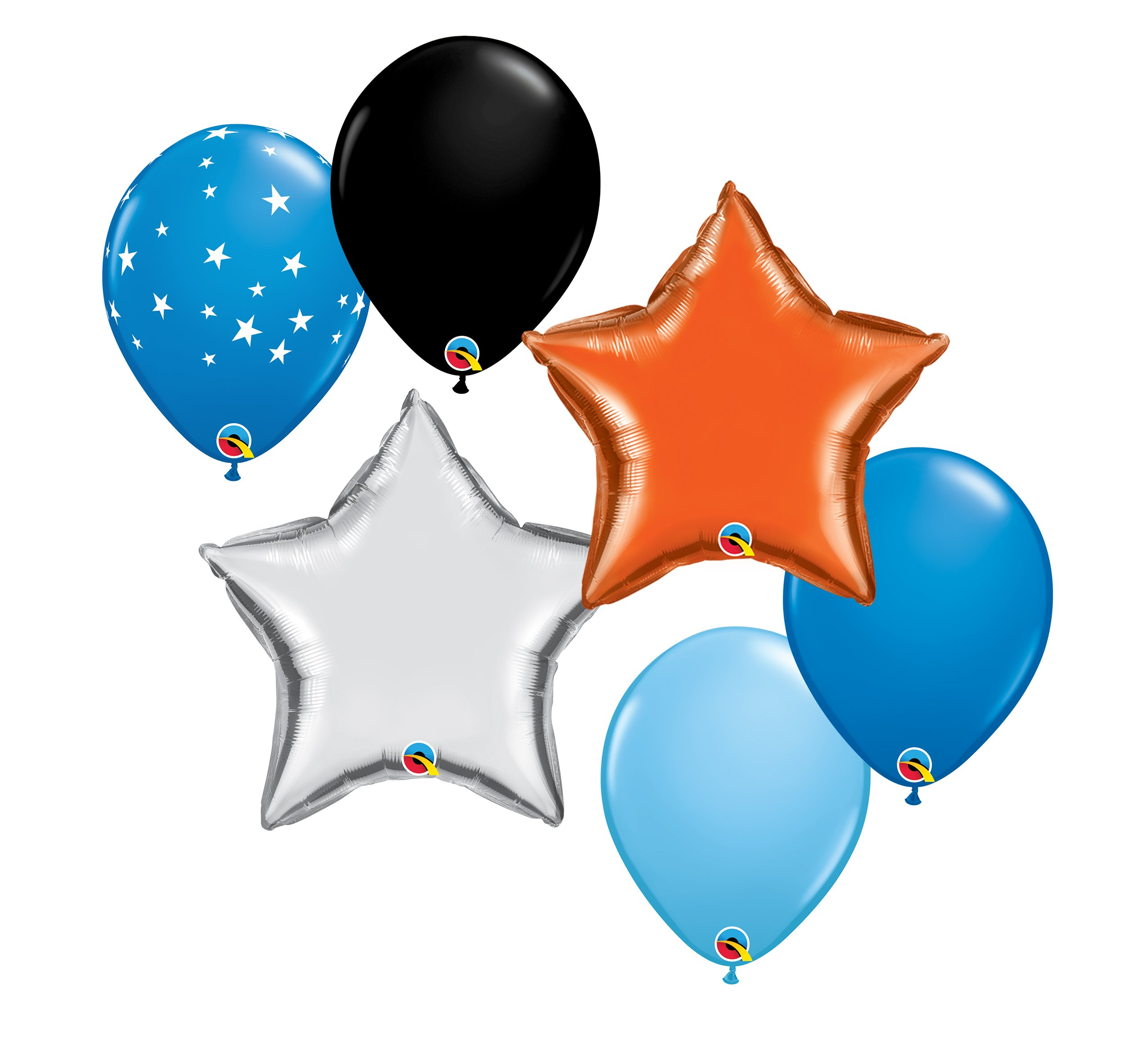 """Helium Balloons: Four Additional 10"""" Coordinating Latex & Two 18"""" Solid Foil Balloons $20.00"""