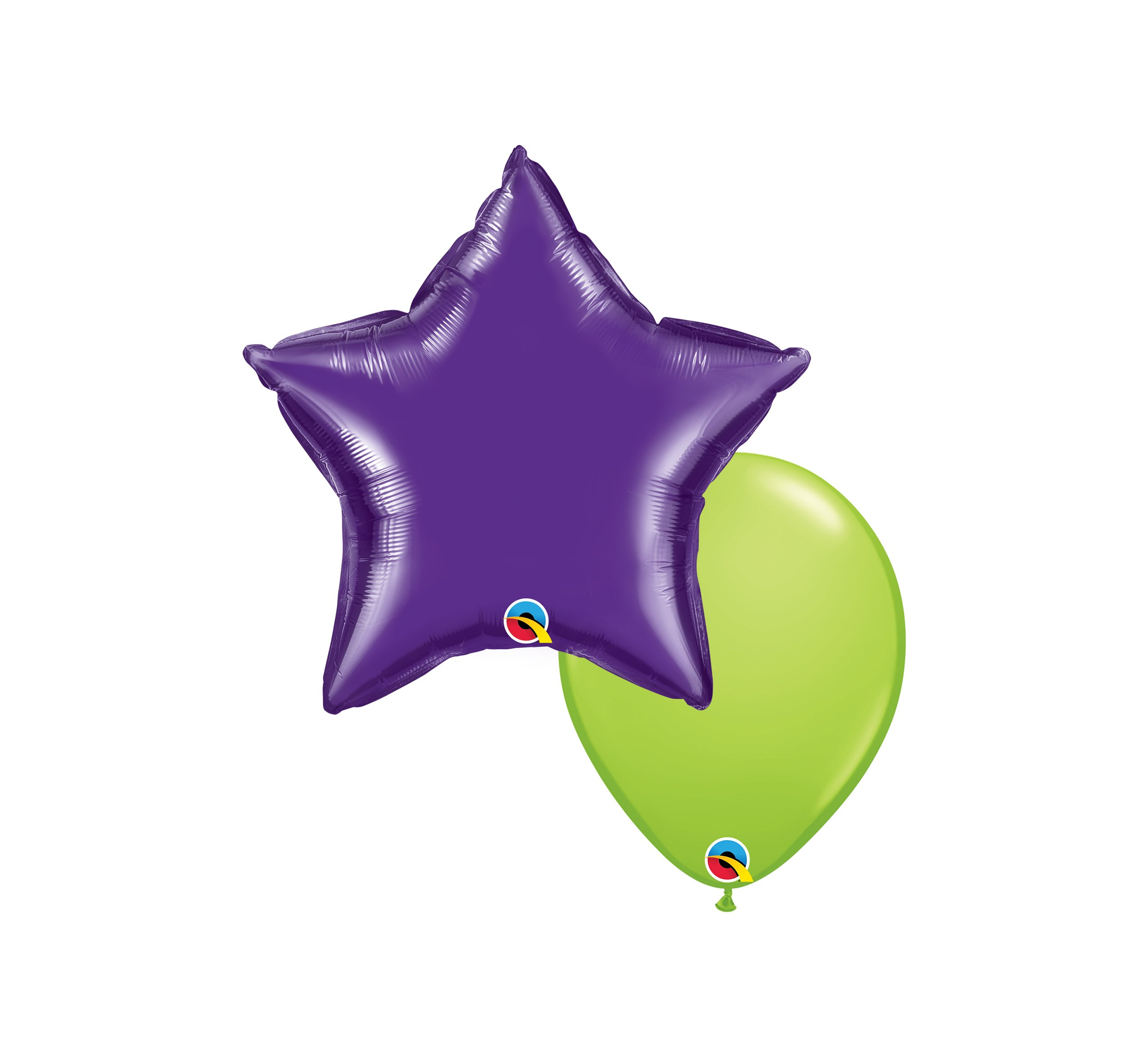 """Helium Balloons: One Additional 10"""" Coordinating Latex & One 18"""" Solid Foil Balloon $7.50"""