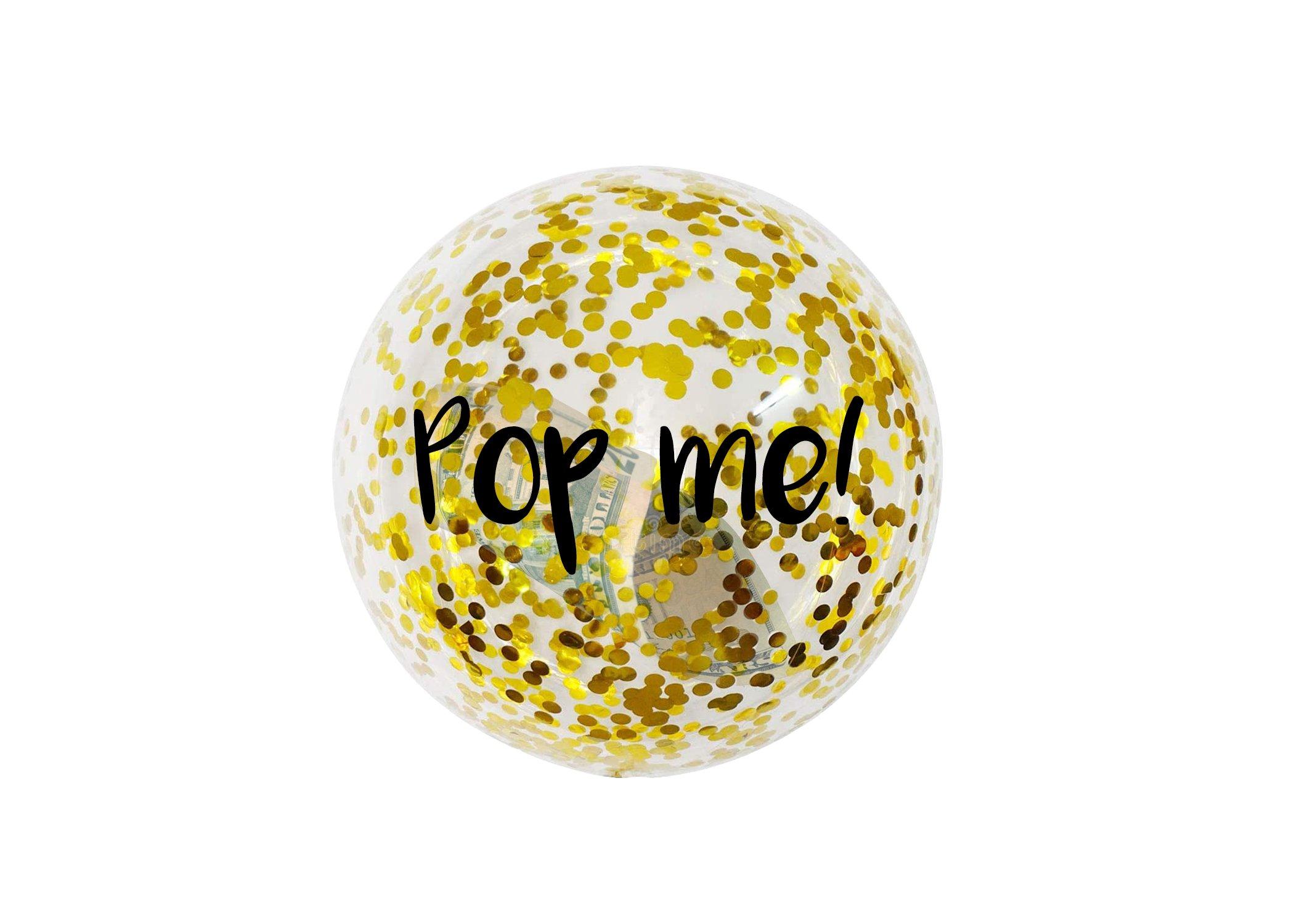 Poppable Cash Balloon (Specify Gift Dollar Amount Below) $5