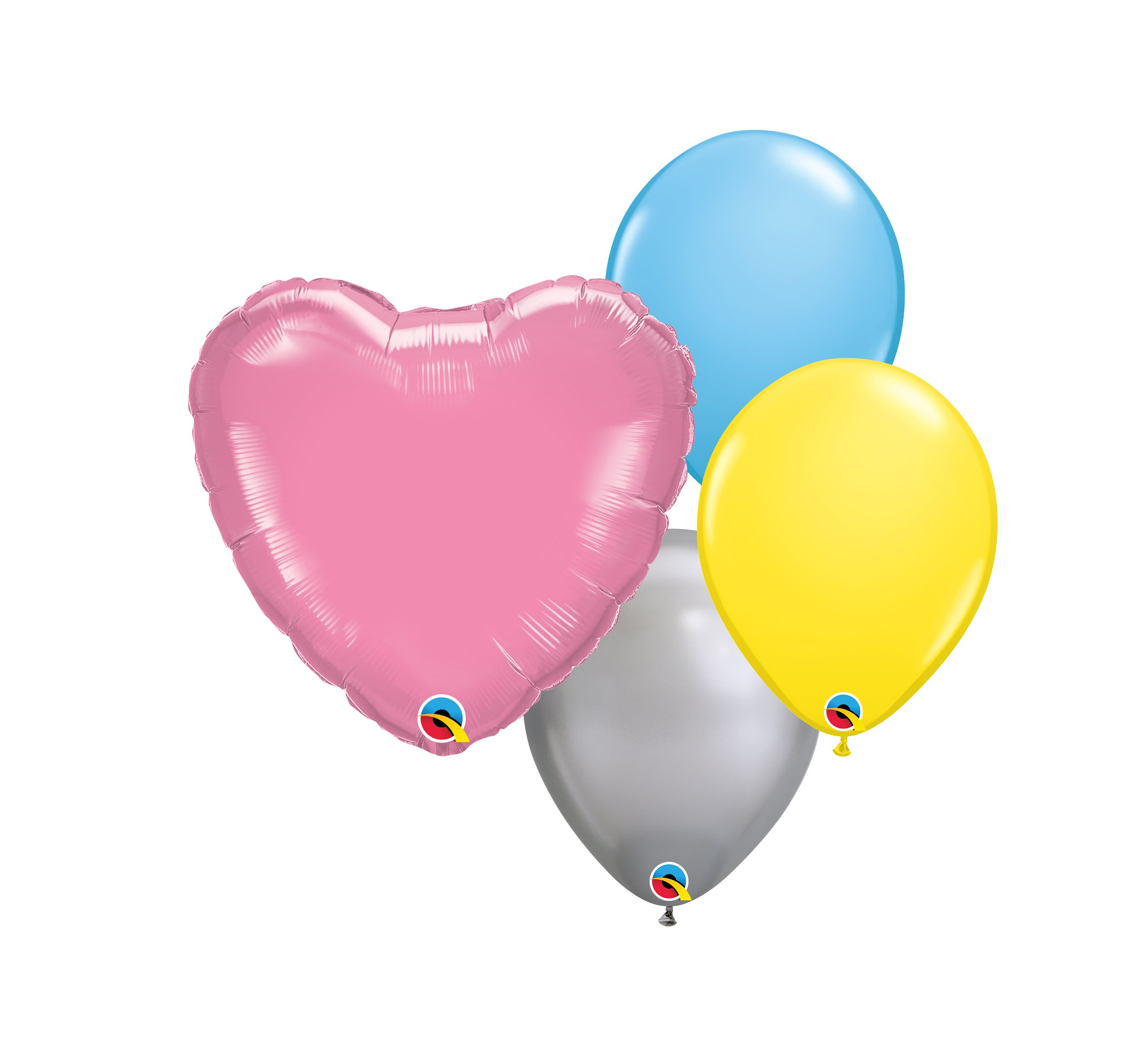 """Helium Balloons: Three Additional 10"""" Coordinating Latex Balloons & One 18"""" Solid Foil Balloon $12.50"""