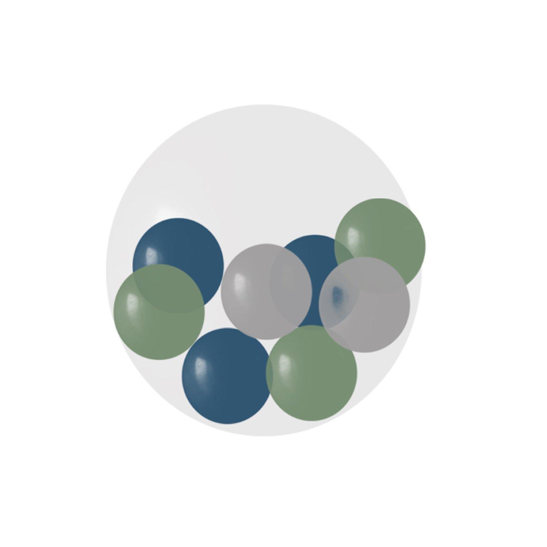 2-2.5ft Jumbo Clear Latex Balloon w/ Mini Latex Balloons Inside (Coordinating colors) $30 each