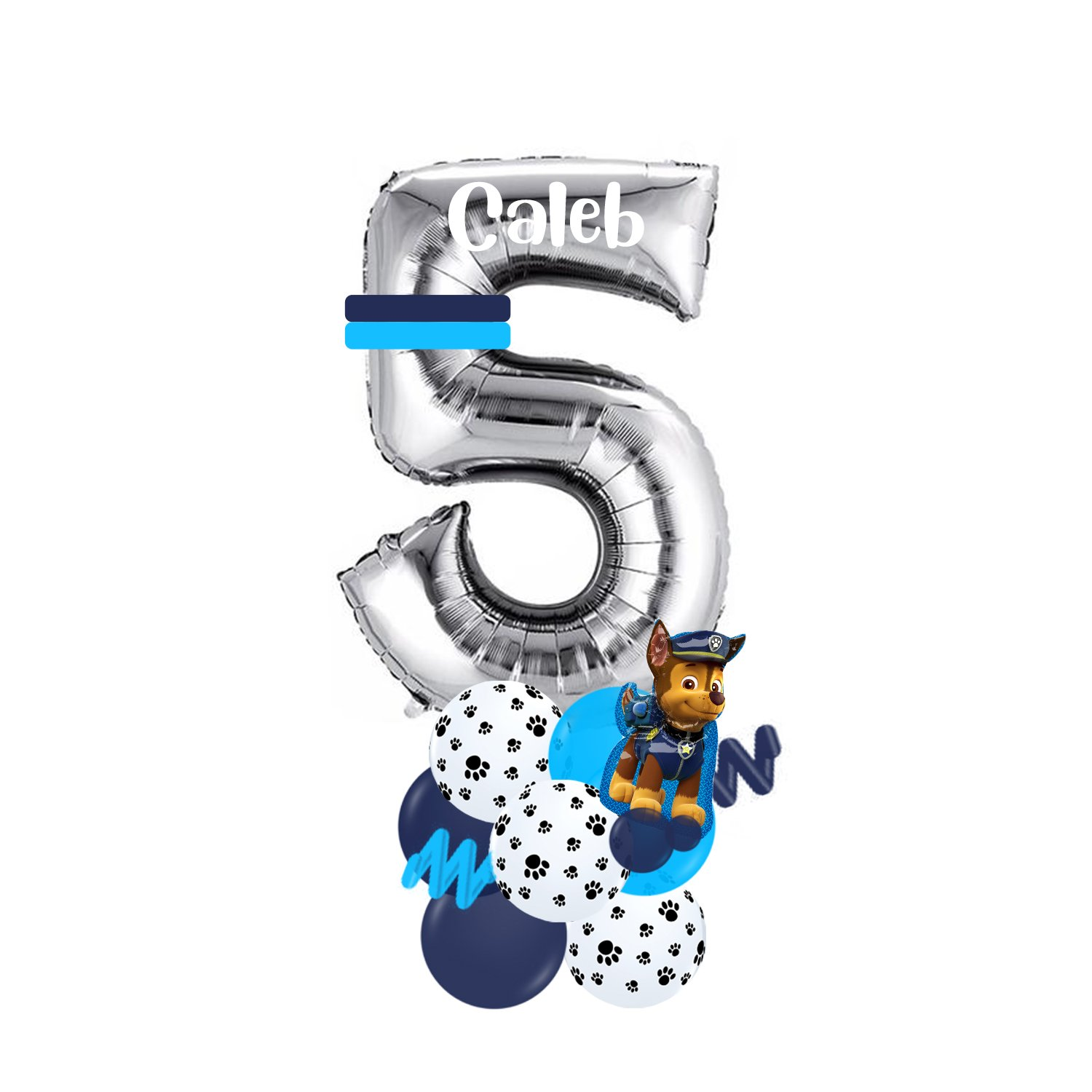 """34"""" jumbo foil number balloon atop a simple latex base."""
