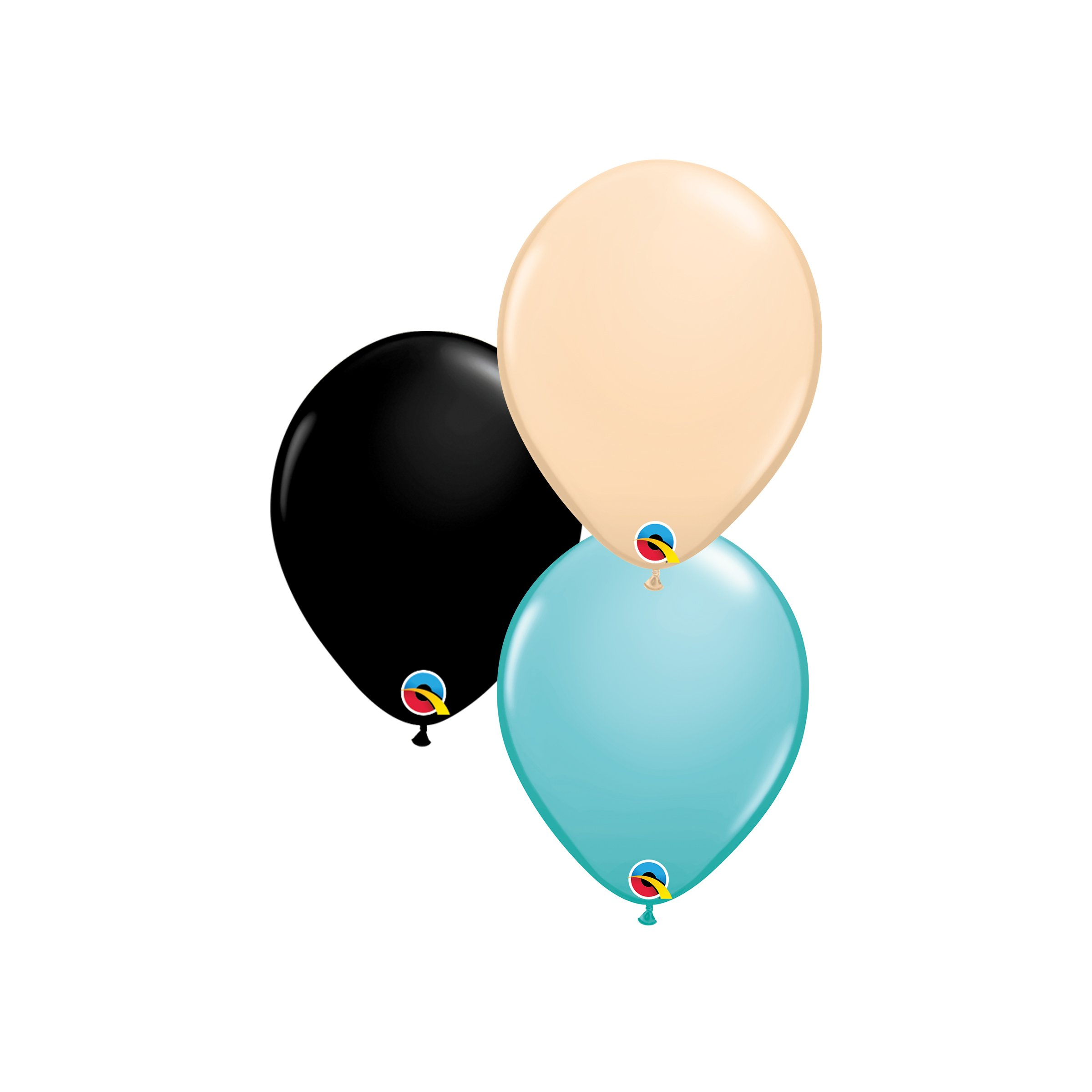 """Three 10"""" Latex Helium Balloons in Coordinating Colors $7.50"""