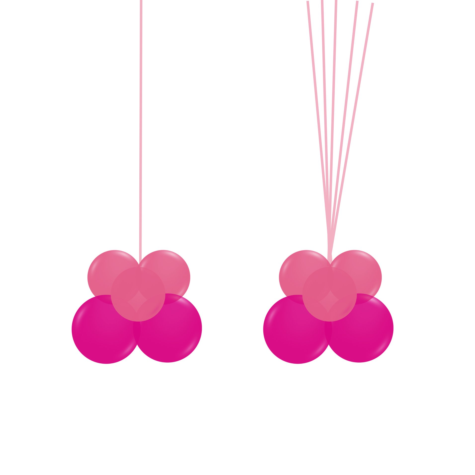 Two Coordinating Mini Balloon Cluster Weights (For Bubble & Add-on Helium Bouquet)